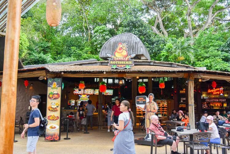 シンガポールナイトサファリ ジャングル ロティサリーレストラン お店にやってきた