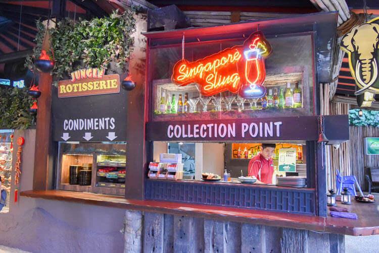 シンガポールナイトサファリ ジャングル ロティサリーレストラン 受け取り