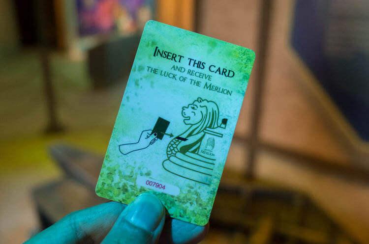 マーライオンタワー メダル交換のカード