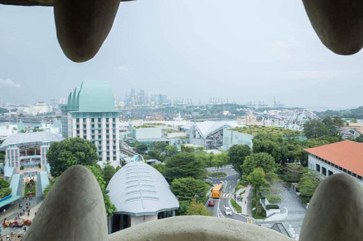 マーライオンタワー 口から見た景色