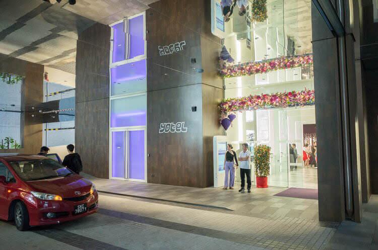 ヨーテル シンガポール オーチャードロード 入口