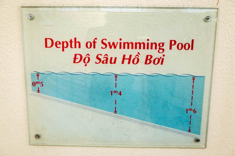 ニューワールドサイゴンホテル プールの深さ