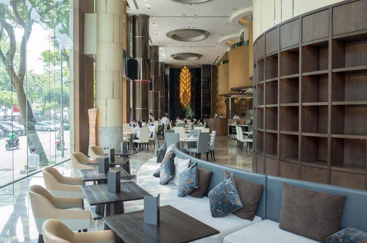 ニューワールドサイゴンホテル  ロビー脇のソファー