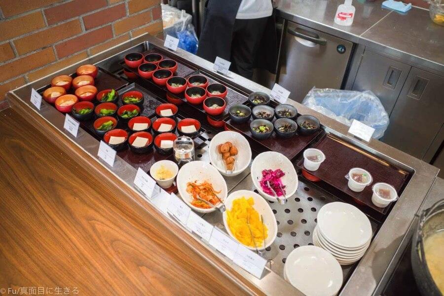 ドーミーインPREMIUM小樽の朝食ブュッフェ 小鉢