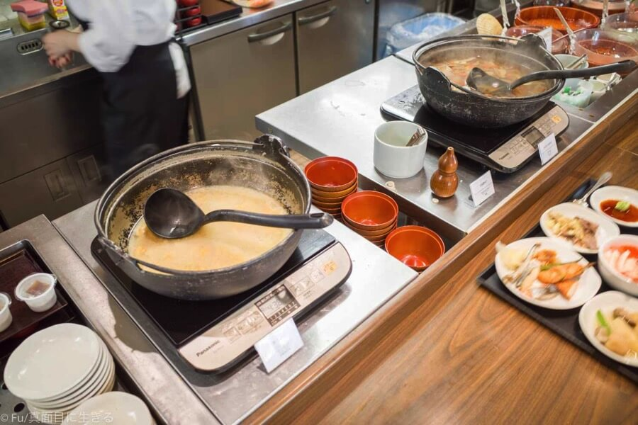 ドーミーインPREMIUM小樽の朝食ブュッフェ味噌汁