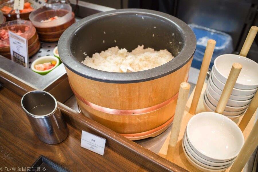 ドーミーインPREMIUM小樽 朝食ブュッフェ 酢飯