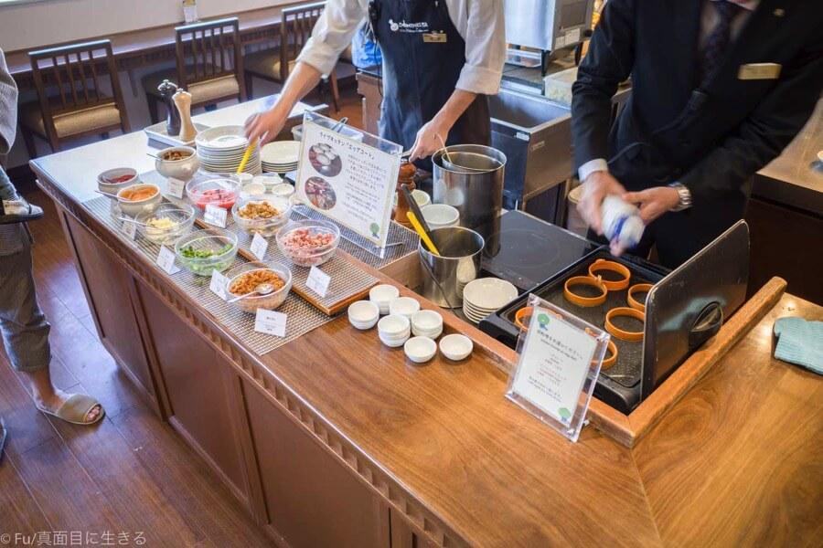 ドーミーインPREMIUM小樽の朝食ブュッフェ エッグステーション