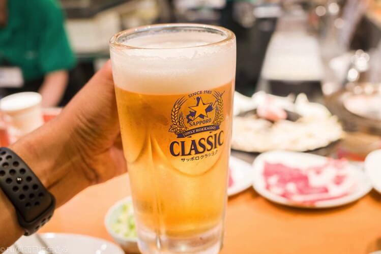 札幌すすきの 羊飼いの店 『いただきます。』 ビール