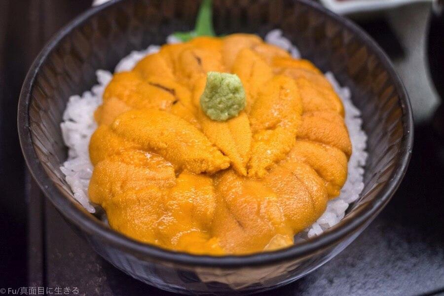 函館うに むらかみ 日本生命札幌ビル店 生うに丼レギュラーサイズのアップ