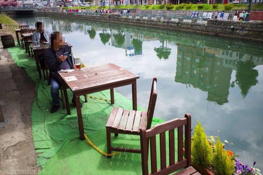 小樽倉庫No.1 運河を見ながら飲む