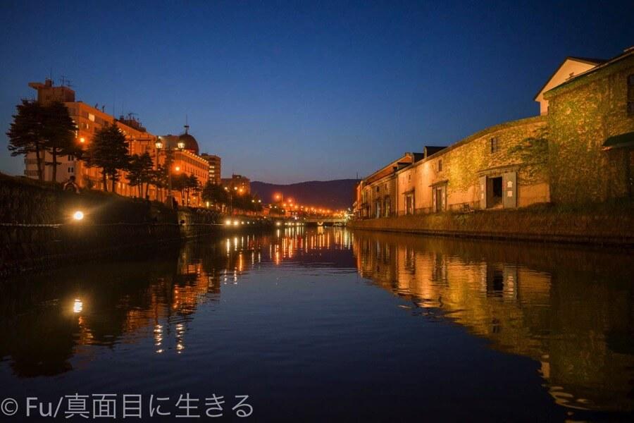小樽運河クルーズ 絶好の景色