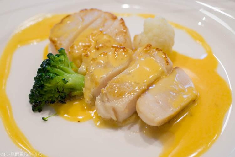 ステーキハウス ハマ 六本木本店 帆立貝のソテー ウニのクリームソース