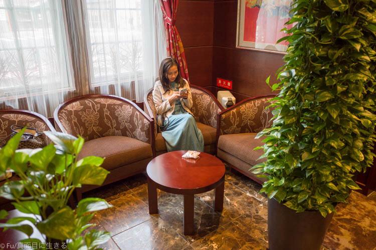 ステーキハウス ハマ 六本木本店 会計待機室