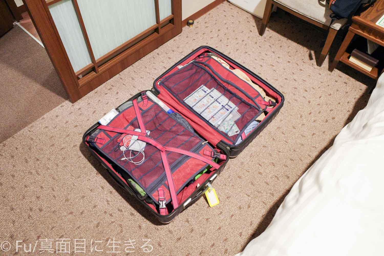 ドーミーイン PREMIUM小樽部屋 スーツケースを開く