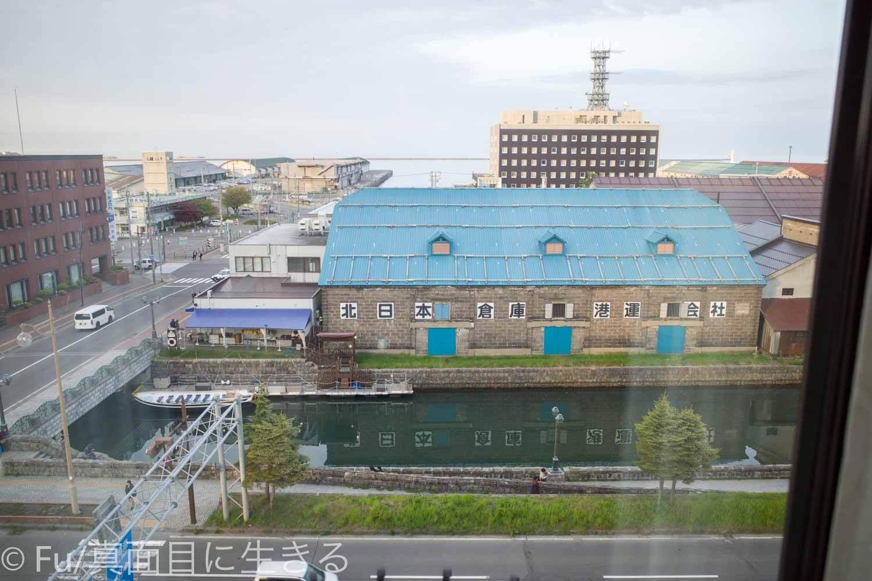 ホテルノルド小樽 窓から小樽運河が見える