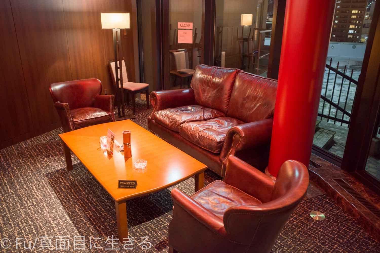 ホテルノルド小樽 バーのソファー席