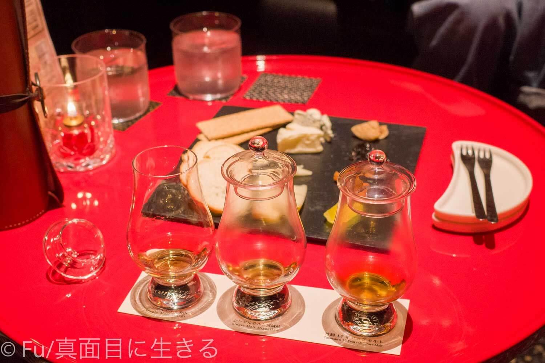 ホテルノルド小樽 ウィスキーの飲み比べ