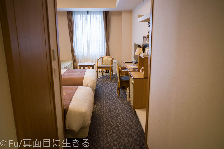 ホテルノルド小樽 部屋を入ってすぐ