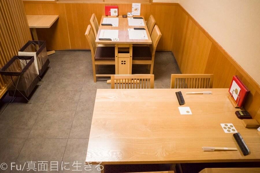 小樽 伊勢鮨 テーブル席
