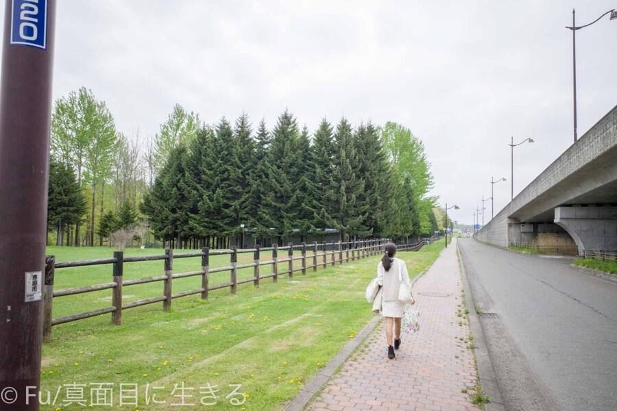 サッポロビール 北海道工場 受付まで歩く