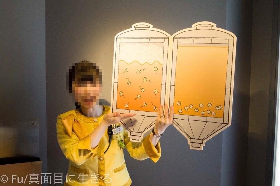 サッポロビール 北海道工場 見学ツアー 発酵の解説