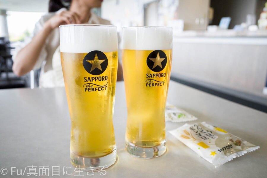 サッポロビール 北海道工場 見学ツアー 試飲の黒ラベル