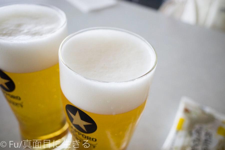 サッポロビール 北海道工場 見学ツアー 泡がキメ細かい