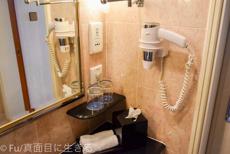 シェラトンサイゴン ホテル&タワーズ 洗面台横のドライヤー