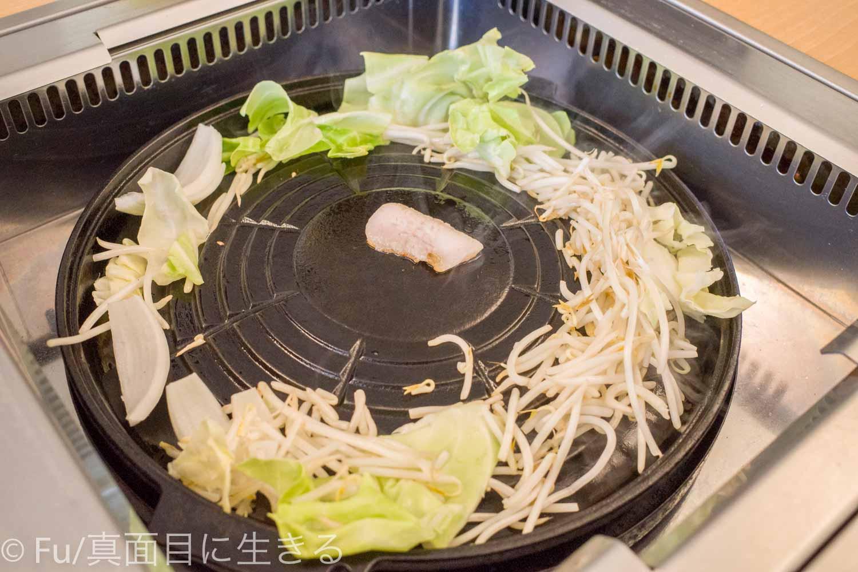 サッポロビール庭園「ヴァルハラ」北海道工場店 野菜を載せた