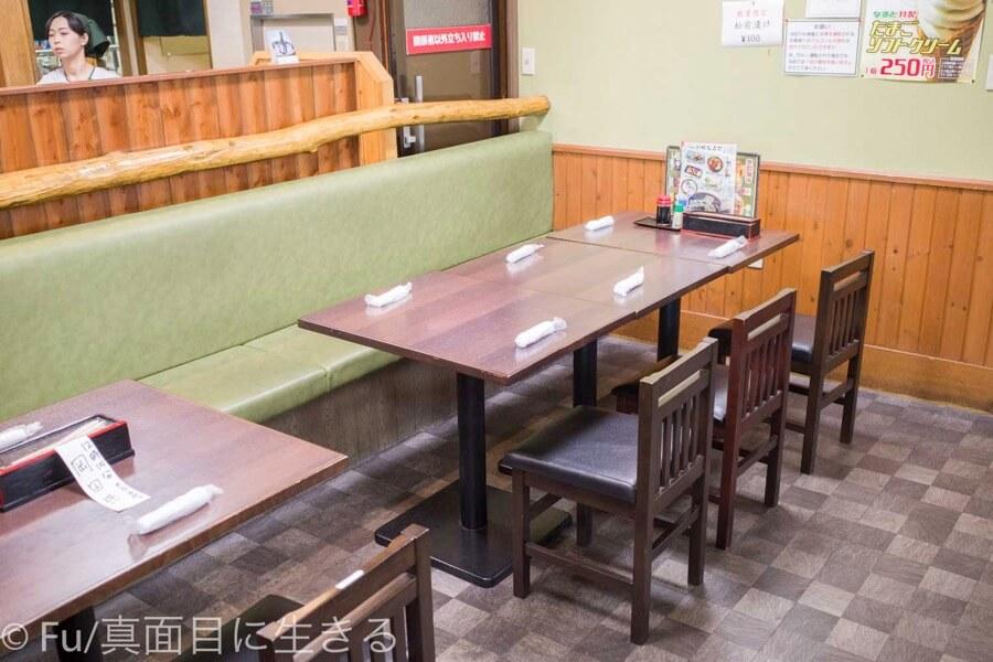 若鶏時代なると 小樽本店 テーブル席