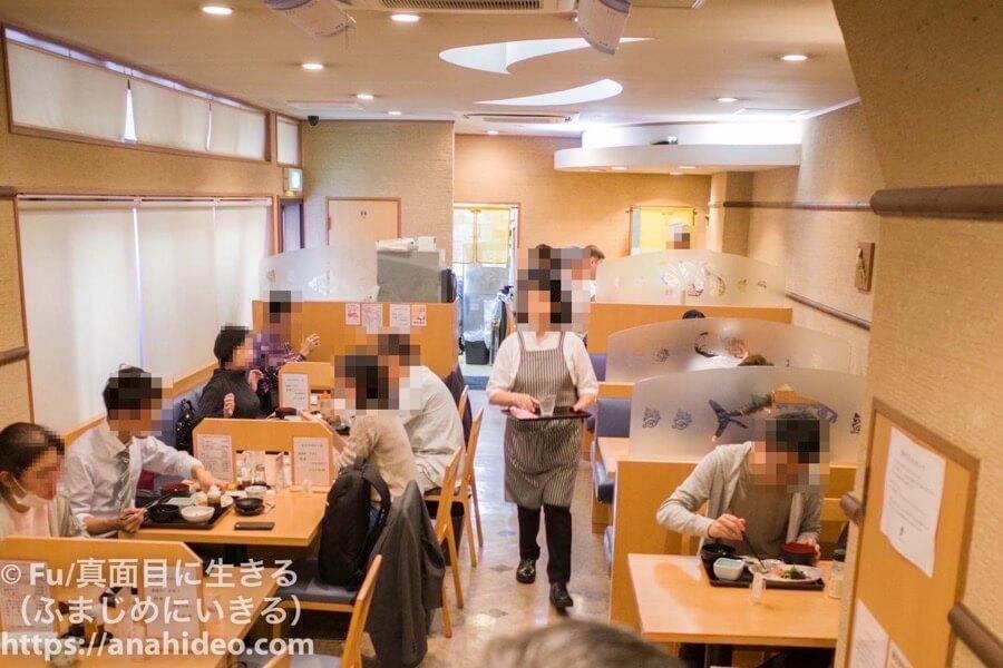 阿佐ヶ谷 おさかな食堂の店内