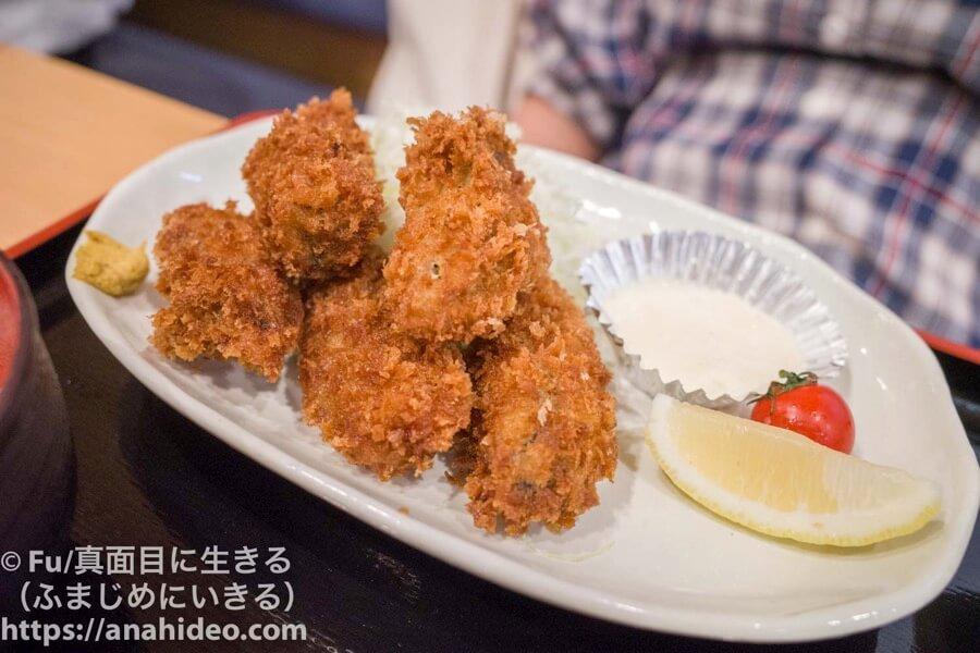 阿佐ヶ谷 おさかな食堂 カキフライ定食のカキフライ