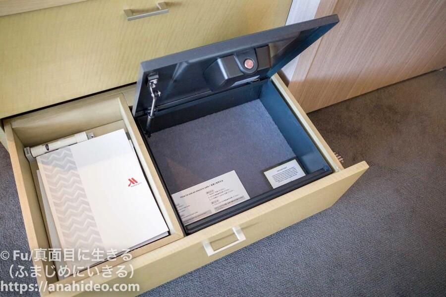 東京マリオットホテル セーフティーボックス