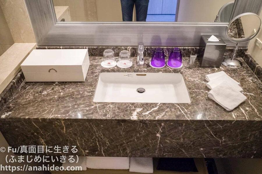 東京マリオットホテル 洗面台の広さ