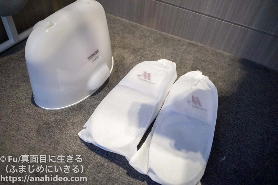 東京マリオットホテル スリッパ