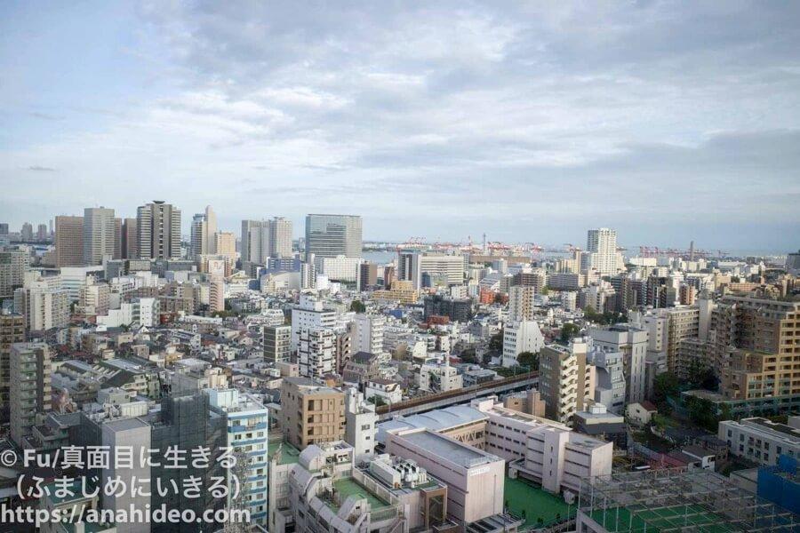 東京マリオットホテル 窓からの風景