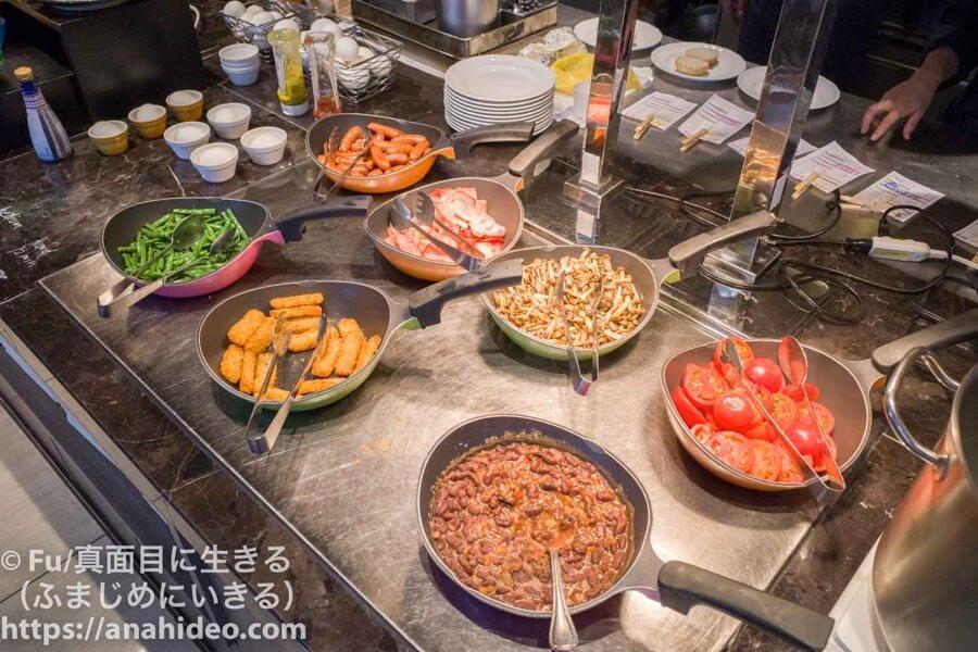 東京マリオットホテル ブュッフェのアメリカン料理