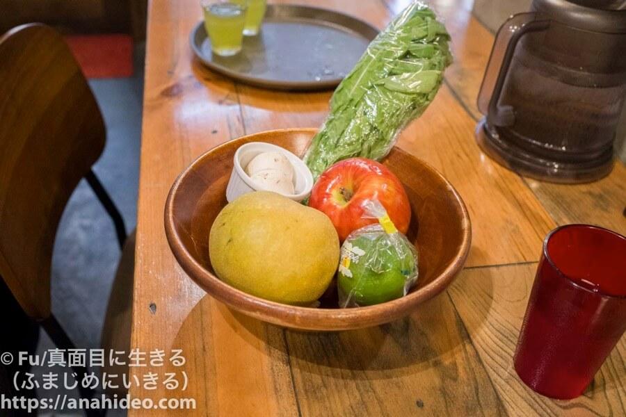 山本のハンバーグ 阿佐ヶ谷食堂 野菜ジュースに使われた野菜