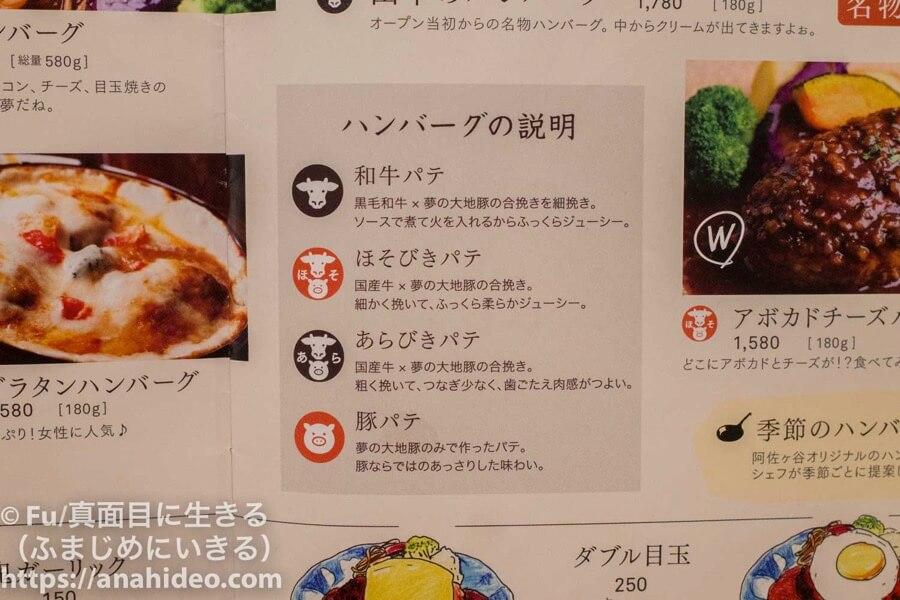 山本のハンバーグ 阿佐ヶ谷食堂 ハンバーグの肉の配合