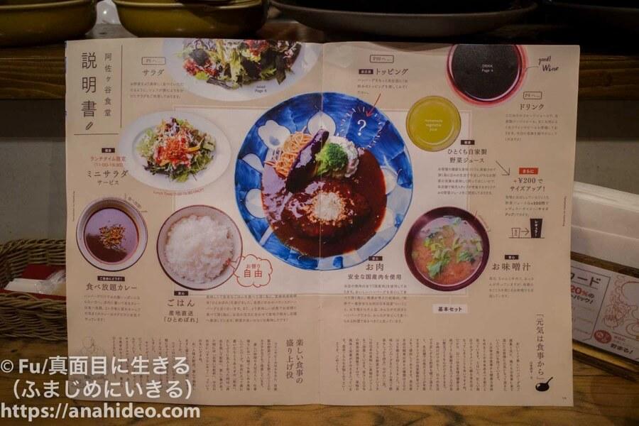 山本のハンバーグ 阿佐ヶ谷食堂 定食の説明