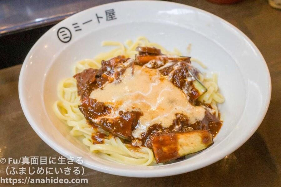 阿佐ヶ谷 ミート屋 納豆、揚げナストッピング