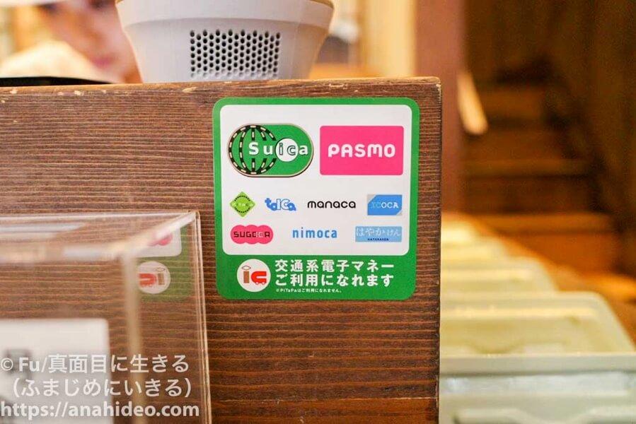 パンの田島 阿佐ヶ谷店 交通系電子マネー利用可能