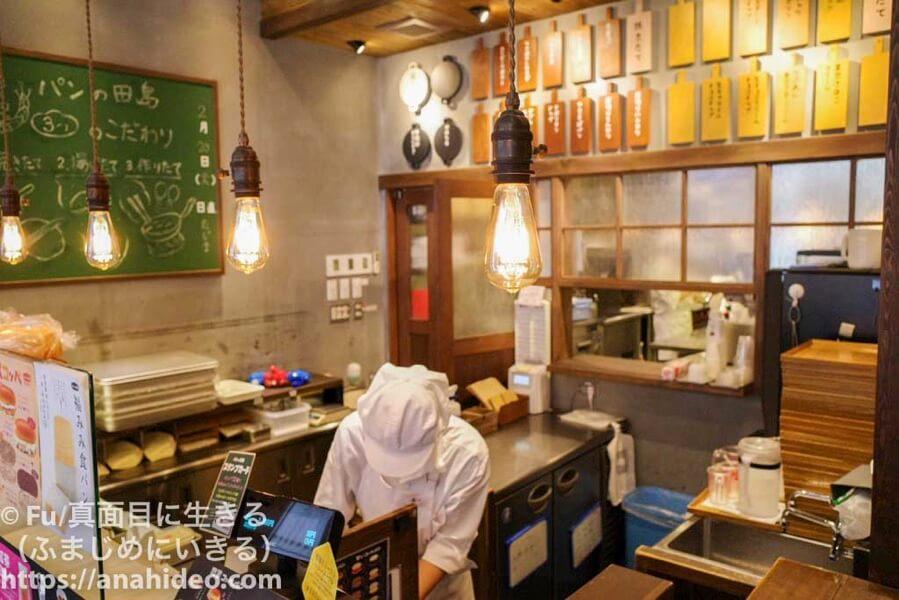パンの田島 阿佐ヶ谷店 1階の厨房