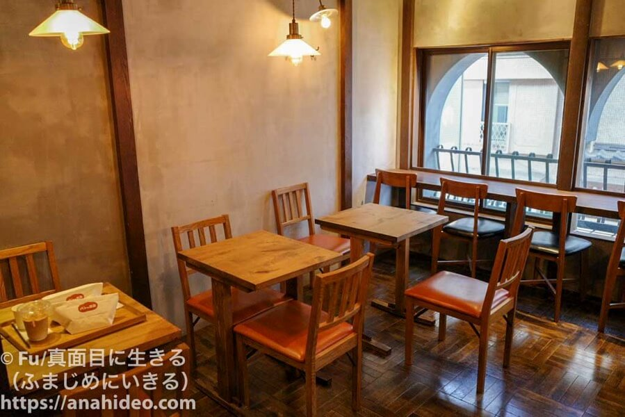 パンの田島 阿佐ヶ谷店 2階の喫茶室