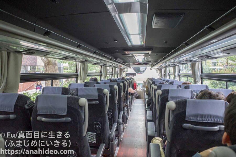 トラベックスツアーズ バス旅行 車内は満席