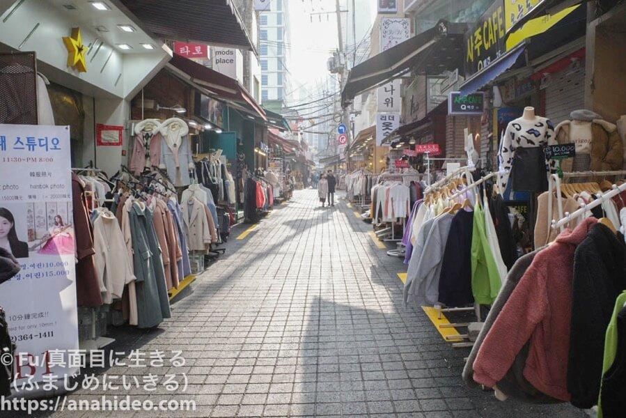 梨大 ファッション文化村通り
