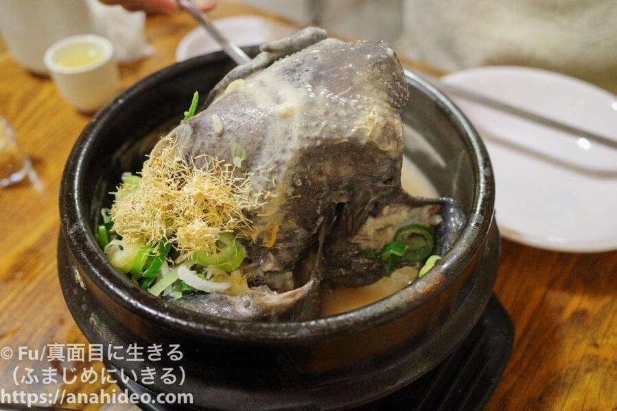 土俗村(トソッチョン) 烏骨鶏は黒い