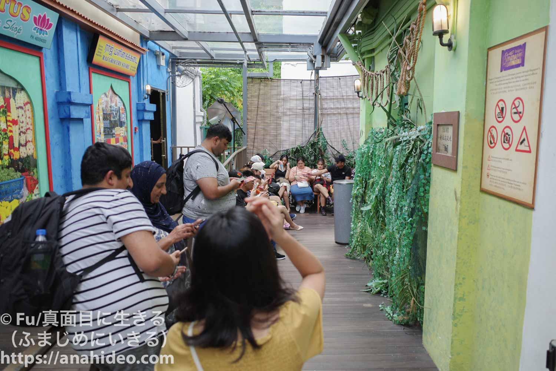 イメージ・オブ・シンガポールを待つ列