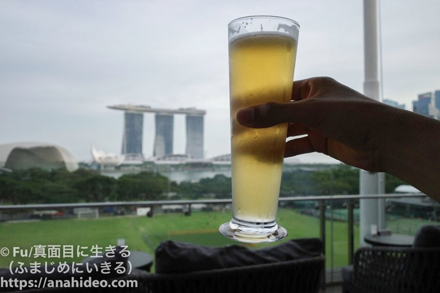 ナショナルギャラリーシンガポール マリーナベイサンズに乾杯