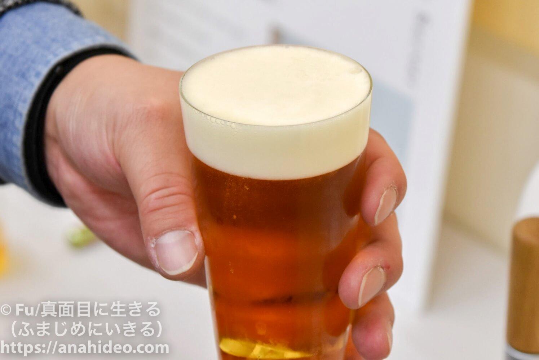 ホームタップで注いだビール